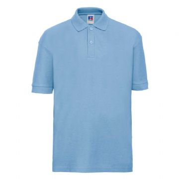 TONGUE  PRIMARY SCHOOL SKY BLUE POLO SHIRT WITH LOGO
